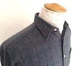Vintage LEE CHICAGO SHIRT - wool button up shirt - size medium