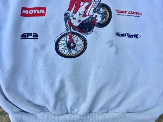 1989 s 11 Paris Dakar rallye course détresse 80 s 1989 racer pull vintage Taille Medium, fabriqué aux Etats-Unis a142b7