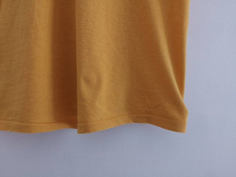 60s UCLA Varsity vintage canary yellow t shirt