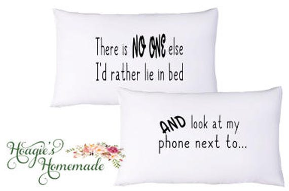 Couples Pillowcase Set Pillowcases For Couples Iphone Love Funny Christmas Gift Gift For Him Holiday Gift Valentines Day Gift For Boyfriend