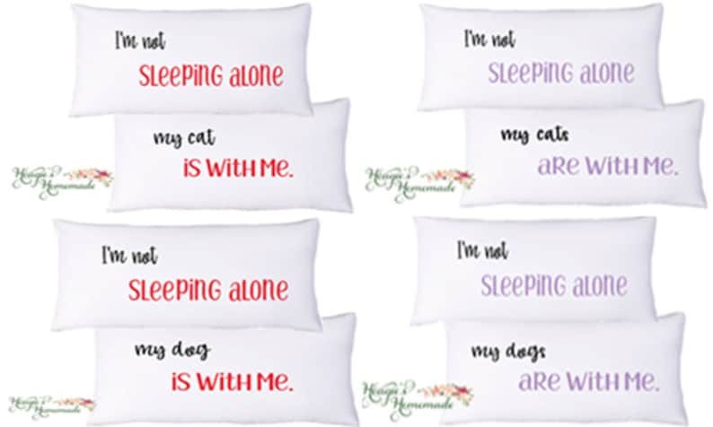 Pet Pillowcase Set Dog Cat Love Funny Christmas Gift For Him Holiday Gift Valentines Day Gift For Boyfriend