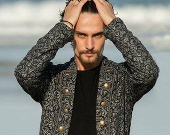 Men Steampunk Jacket,  Pirate Jacket, Cyberpunk Coat, Burning Man Clothing, Victorian Jacket, Circus Jacket, Edwardian Coat, Gothic Jacket