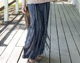 Women Maxi Skirt, Fringe Skirt, Tribal Skirt, Gypsy Skirt, Boho Skirt, Hippie Skirt, Festival Skirt, Bohemian Skirt, Loose Skirt, Party