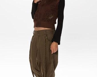 Women Hippie Pants, Boho Clothing, Harem Pants, Steampunk Pants, Elven Pants, Fairy Pants, Gypsy Pants, Baggy Pants, Brown Pants,Drop Crotch