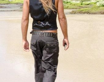 Burning Man Clothing, Men Pants, Steampunk Clothing, Festival Pants, Striped Pants, Cyberpunk Pants, Pirate Pants, Cybergoth Clothing