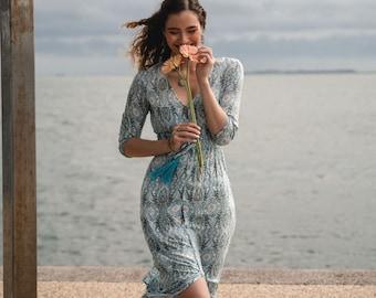 Bohemian Dress, Kaftan Dress, Boho Maxi Dress, Summer Dress, Hippie Dress, Beach Dress, Festival Dress, Slit Dress, Long Loose Dress