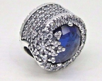 cbd7edfe7 Pandora, Bracelet Charms / Dazzling Snowflake Bead with Blue Crystal and CZ  / New / s925 Sterling Silve / Fully Stamped