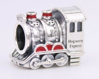 Sterling Silver Locomotive Train Engine Dangle Bead Charm