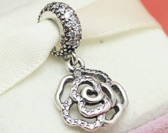 95863c7f6 Pandora, Bracelet Charms, Beads / SHIMMERING ROSE Cz Dgl / New / s925 Sterling  Silver / Fully Stamped