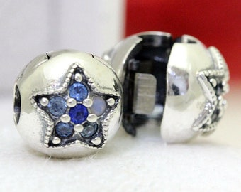 17395c46f Pandora, Bracelet Charms, Clips, / Silver Bright Star CZ Clips / New / s925  Sterling Silver / Fully Stamped
