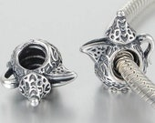 Pandora, Bracelet Charms, Beads ARABIAN COFFEE POT Dallah New Threaded s925 Sterling Silver Fully Stamped