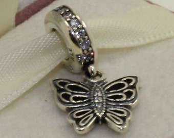 e447537dc Pandora, Bracelet Charms / Butterfly Charms, LOVE TAKES FLIGHT_CZ Dangle /  New / Threaded / s925 Sterling Silver / Fully Stamped