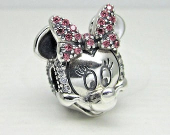 995afda46 Pandora, Bracelet Charms, Clips, / Shimmering Cz Minnie Portrait CLIP / New  / CLIP CHARM / s925 Sterling Silver w/Cz / Fully Stamped