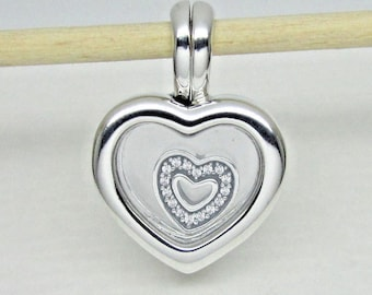 c343f1eaa Pandora, Bracelet Charm, Lockets / Floating Heart Locket Heart Pendant /  New / s925 Sterling Silver / Fully Stamped