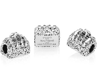 a1d611ecb Pandora, Disney, Bracelet Charms, Beads / MARY POPPINS' BAG Charm / New /  s925 Sterling Silver / Fully Stamped