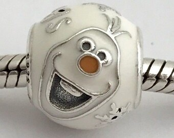 9bf9d19c8 Pandora, Bracelet Charms, Beads / FROZENS OLAF CHARM / New / s925 Sterling  Silver / Threaded / Fully Stamped