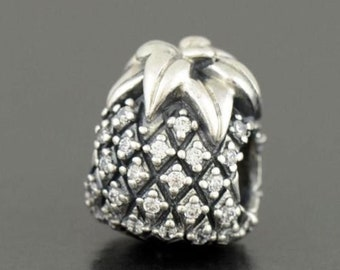 7c9120907 Pandora, Bracelet Charms, Beads / SPARKLING PINEAPPLE Cz / New / s925  Sterling Silver / Fully Stamped