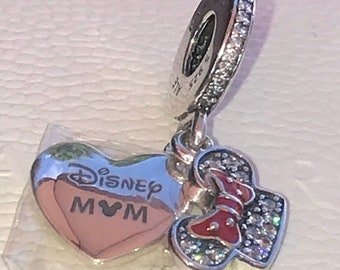 63c032431 Pandora, Bracelet Charms, Beads / Parks Minnie Mouse Mom Charm / New /  Threaded / s925 Sterling Silver / Fully Stamped