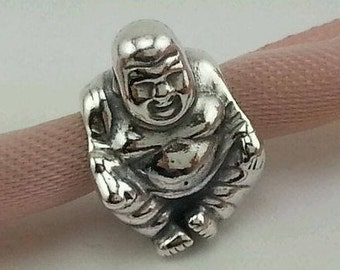 9a804f3a6 Pandora, Charms, SMILING BUDDHA BEAD / New / Threaded / s925 Sterling Silver  / Fully Stamped.
