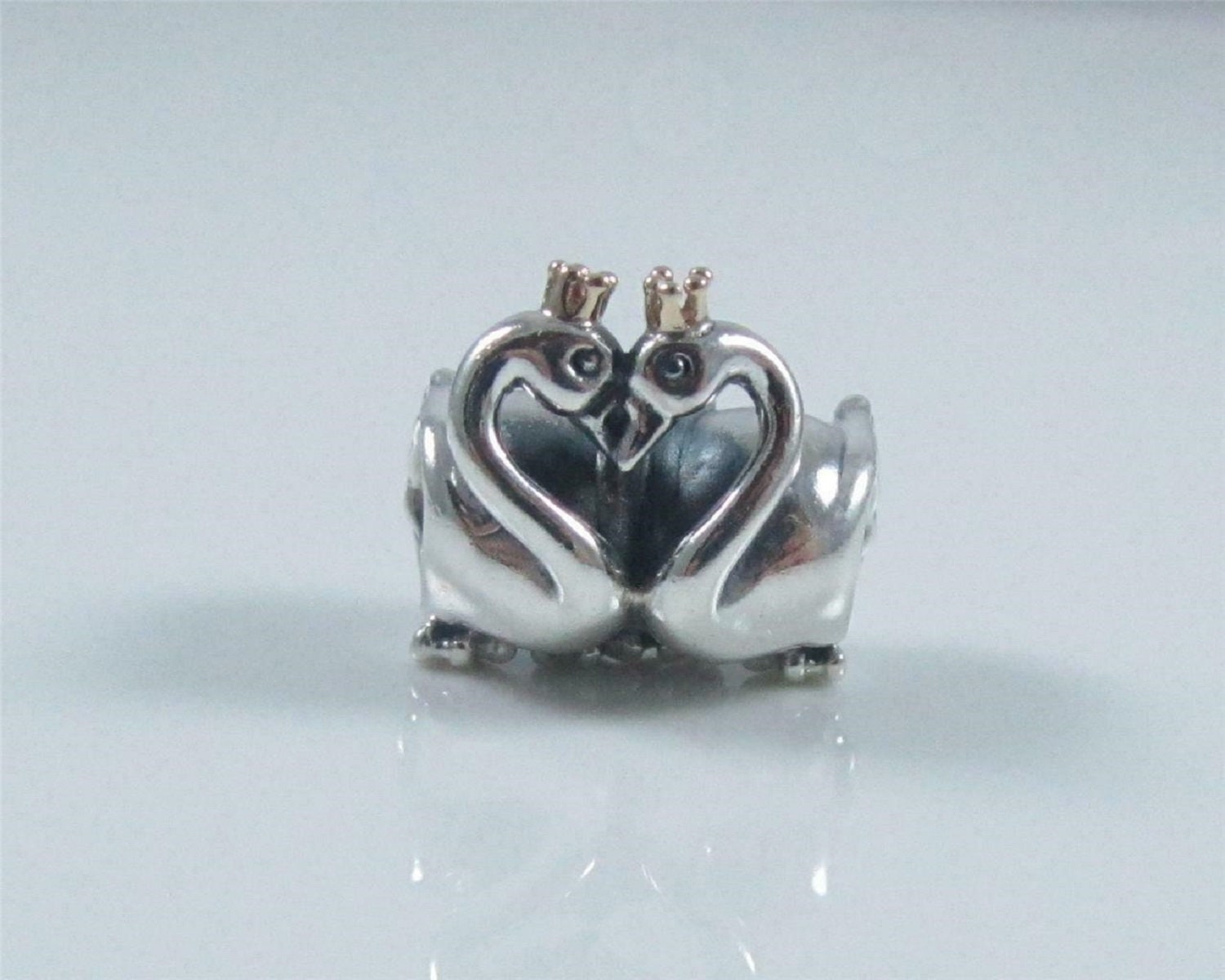 daceb8566 Pandora, Bracelet Charms, Dangles / Swans Embrace Charm Metalic Gold Crown  / New / s925 Sterling Silver / Fully Stamped