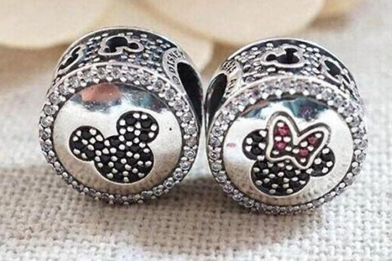 e6361775b Pandora Bracelet Charms Beads / MICKEY MINNIE SPARKLING | Etsy