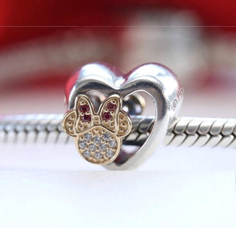 b8578286e Pandora Disney Charms MICKEY MINNIE MOUSE Love Icons | Etsy