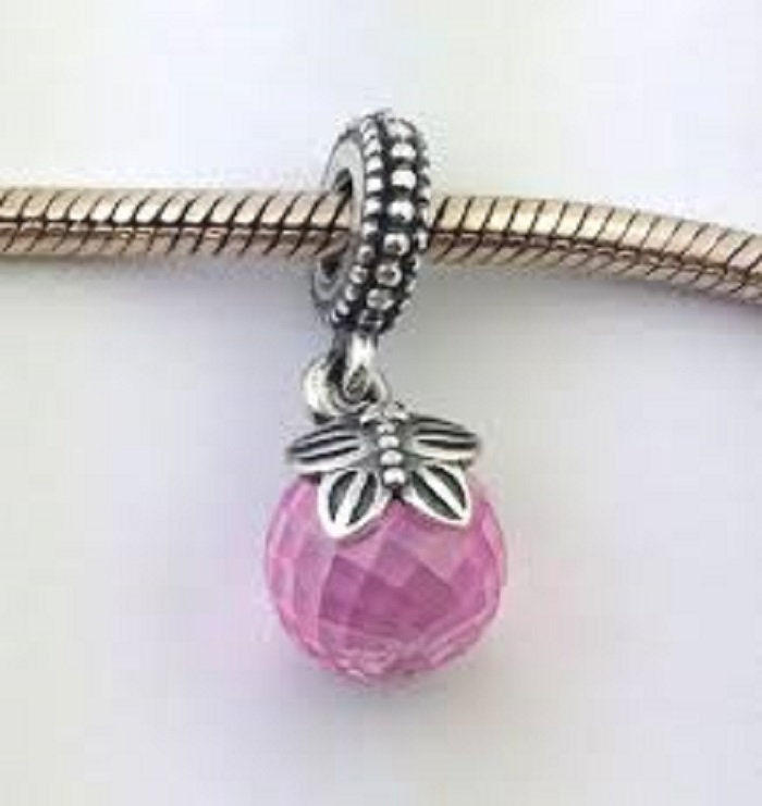 5a5c39641 Pandora, Bracelet Charms, PINK MORNING BUTTERFLY Bead / New / Threaded /  s925 Sterling Silver / Fully Stamped
