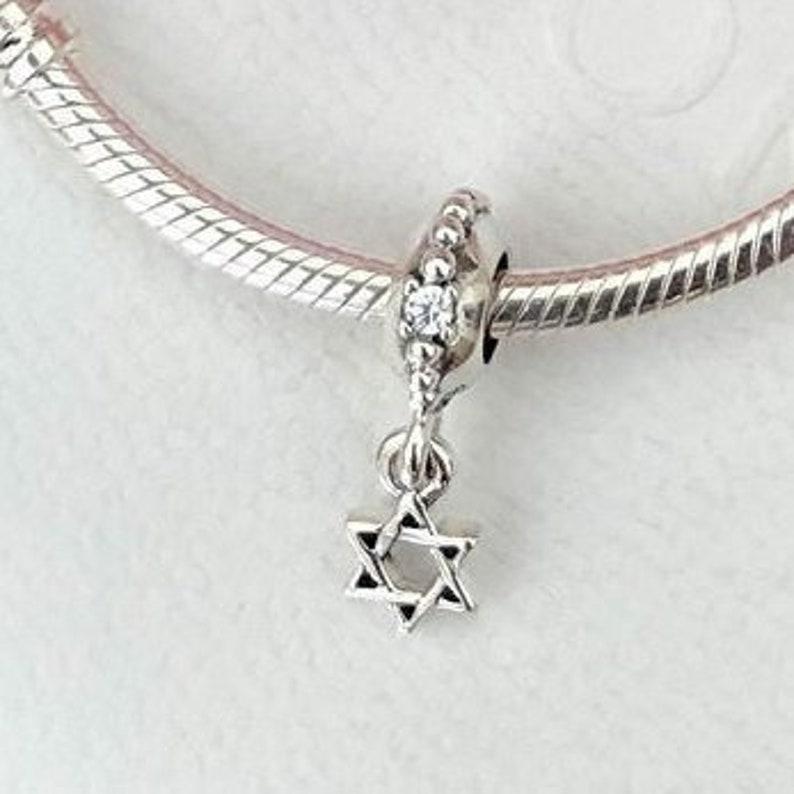 cbb37bfbc Pandora Bracelet Charms Petite Star of David Dangle / New / | Etsy