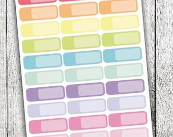 Blank Label Planner Stickers