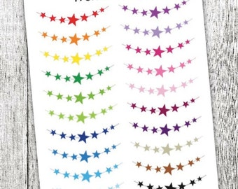 Star Daily Banner Planner Stickers