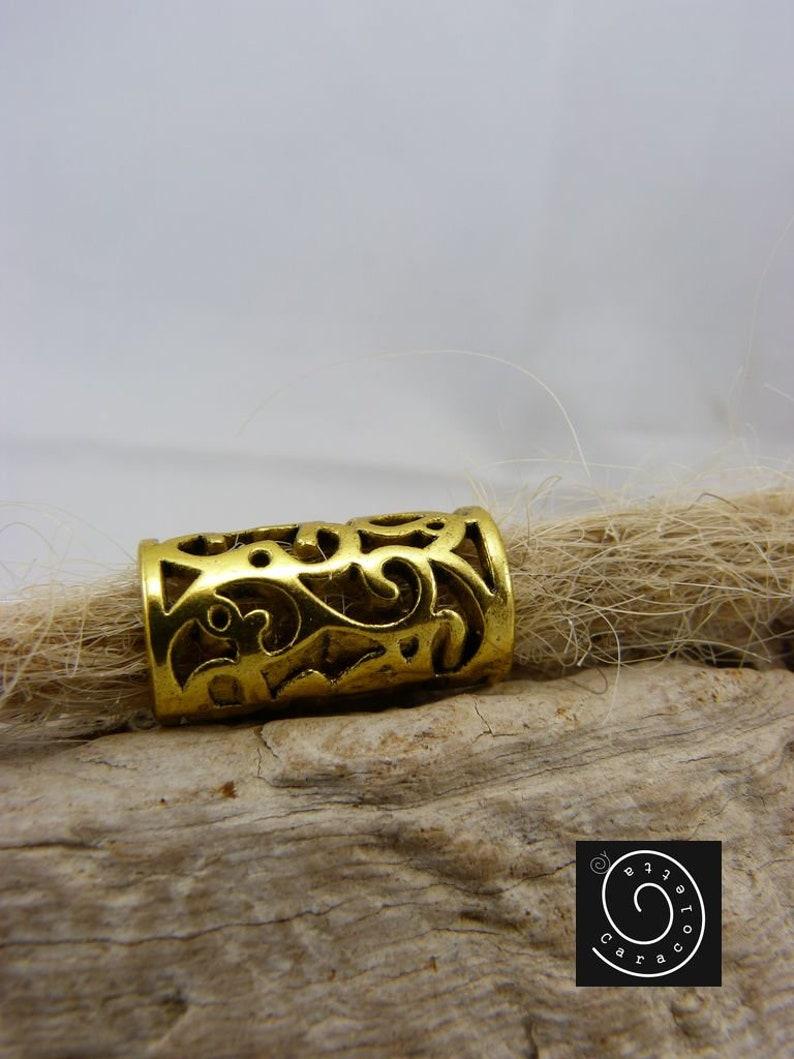 Dread Jewelry Brass,filigree pattern Dreadbebe,Rasta JewelryBraids Jewelry