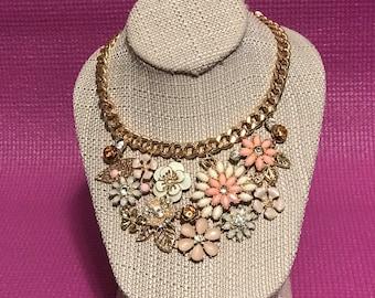 Flower Garden Statement Necklace