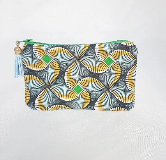 coin purse / pouch, African pattern fabric