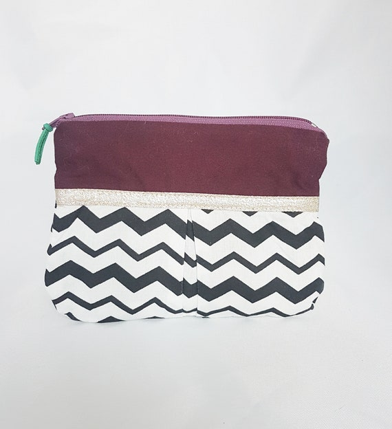 Fabric jewelry pouch / geometique