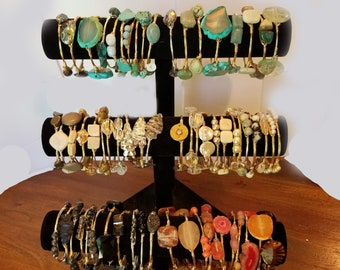 3 Bourbon and Bowties inspired bracelets or beaded bracelets--Choose any 3--mix and match