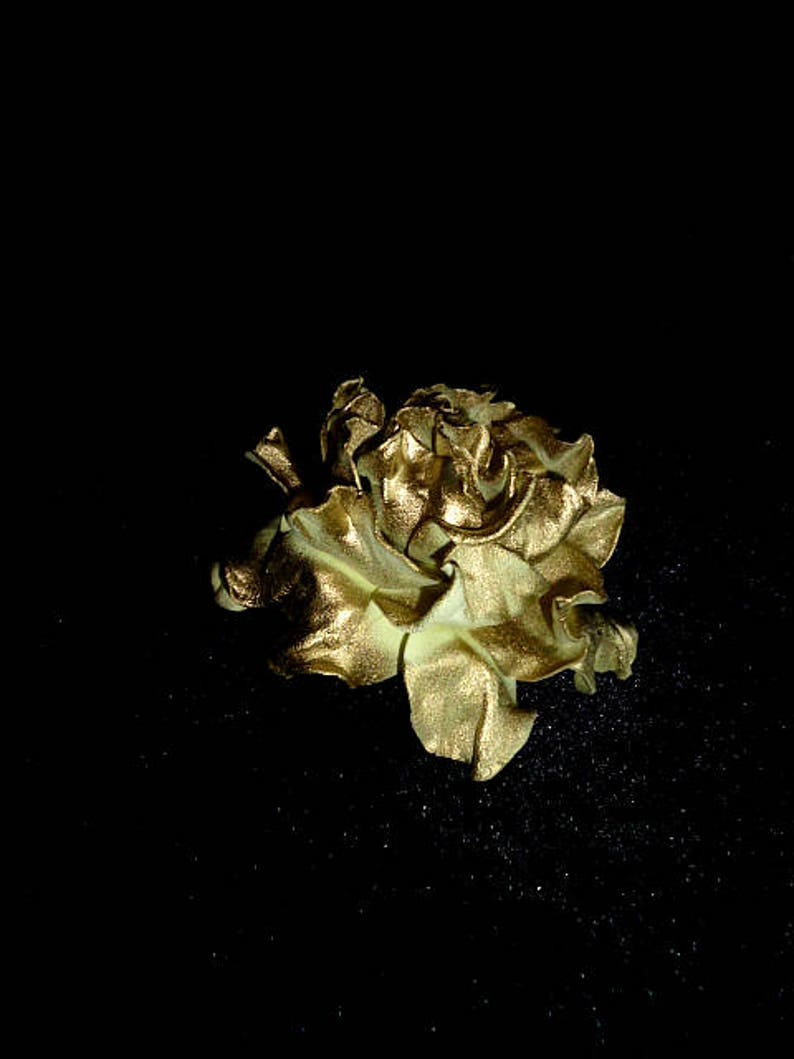 Gold flower Rose Hair Clip Wedding Rose Hair Clip Bridal image 0