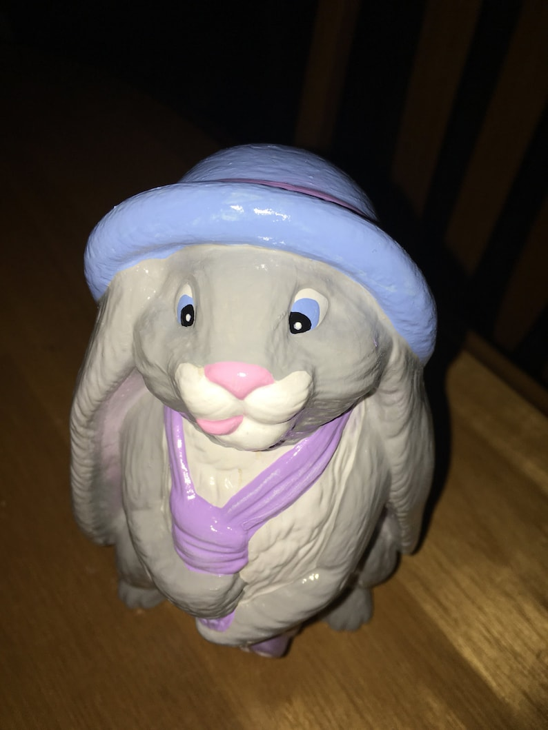 Bunny with Tie and Hat
