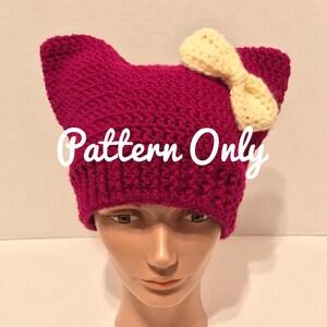 free crochet cat hat pattern – Grandmother's Pattern Book | 300x300