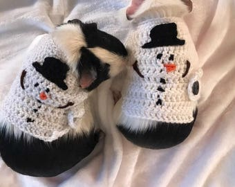 Guinea Pig Snowman Costume, Guinea Pig Clothes, Christmas Sweater, Guinea Pig Clothing, Skinny Pig Sweater, Snowman Sweater,