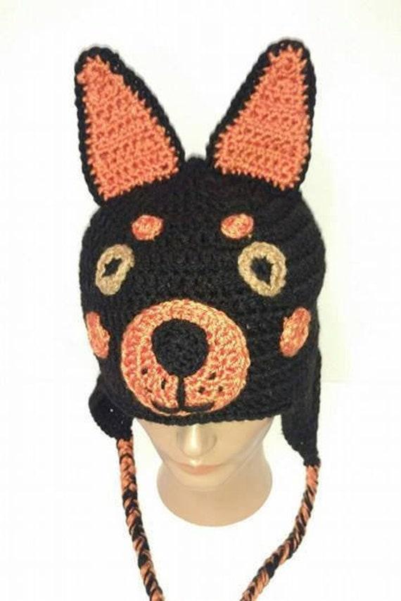 Doberman Hat Pattern Crochet Pattern Doberman Pinscher Dog Etsy
