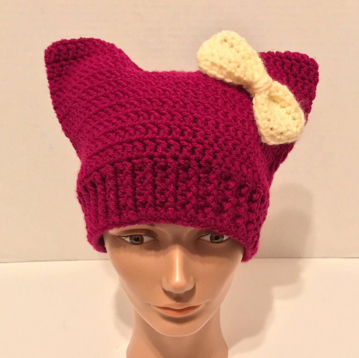 Pussyhat Pattern Cat Hat Pattern Crochet Cat Pattern Etsy