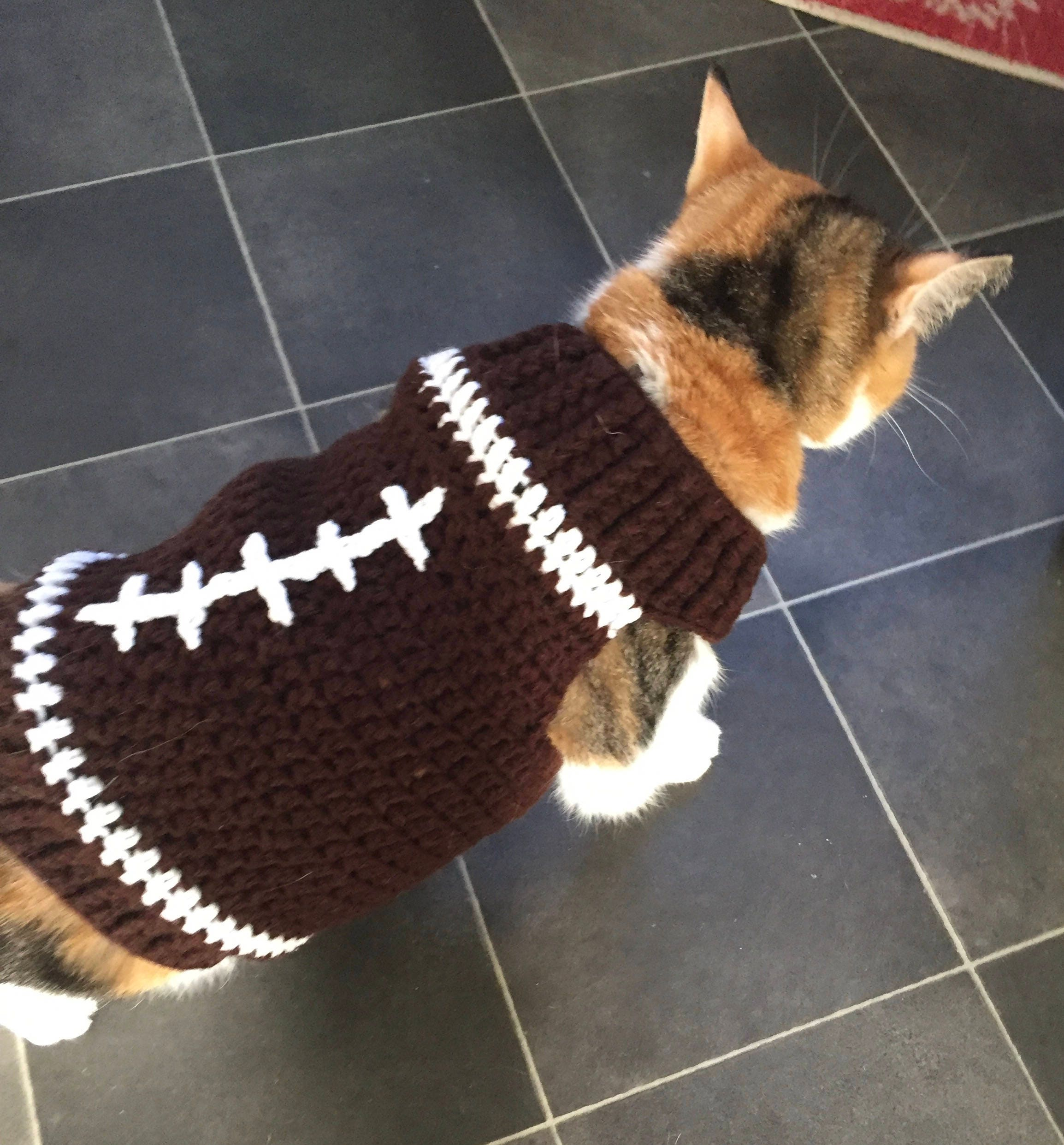 sports shoes 21442 28feb Cat Football Costume, Cat Football Sweater, Dog Football Sweater, Cat  Sports Jersey, Cat Clothes, Sphynx Cat Sweater