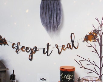 CREEP IT REAL Hand Foiled Halloween Garland
