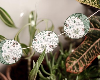 Botanical Moon Phase Garland