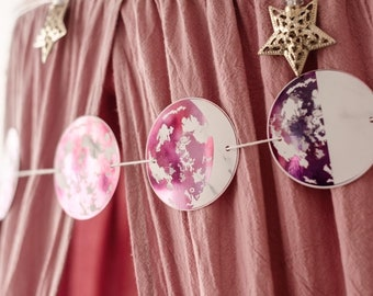 Moon Phase Garland - detailed foil moon design
