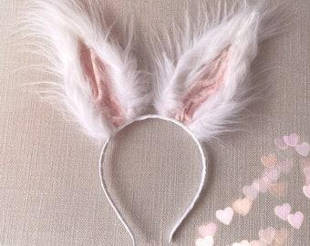 Rabbit Ears Headband Dark Grey Bunny Ears