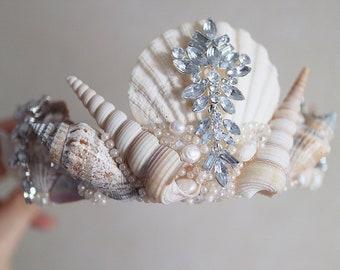 mermaid crown etsy
