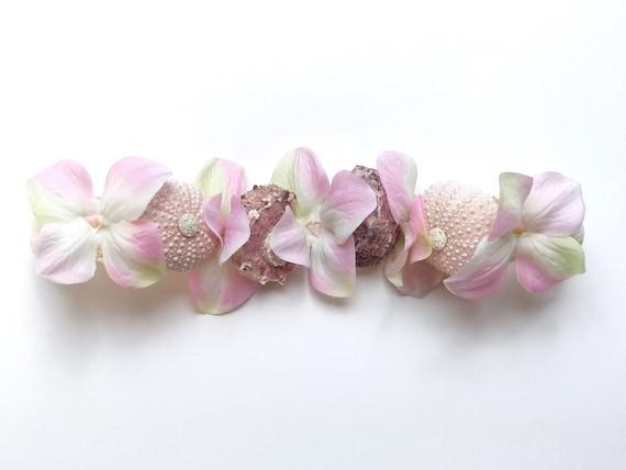 Soft Pink Sea Shell Flower Crown Mermaid Hair Head Band Choochie Choo Boho Beach