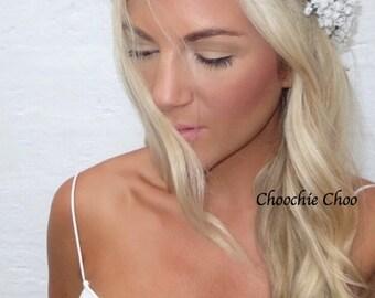 Gypsophila White Spray Flower Crown Baby's Breath Hair Head Band
