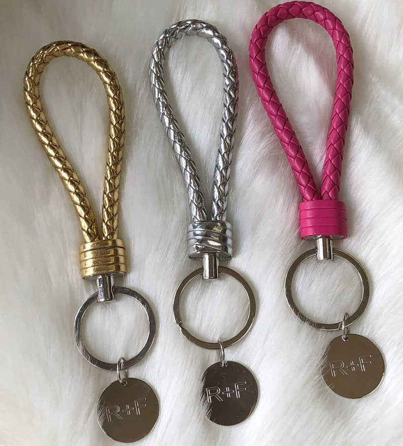 0fb7d12424419 Rodan and Fields KeyChain gift metal tag leather rope ready to ship